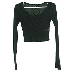 TopShop cropped top size 5